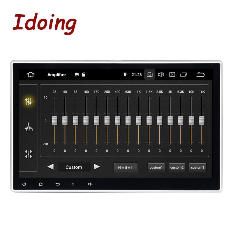 Idoing 1Din 10,2 PX5 4G + 32G Octa Core Universal Auto GPS DSP Radio Player Android 9.0 IPS screen-Navigation Multimedia Bluetooth
