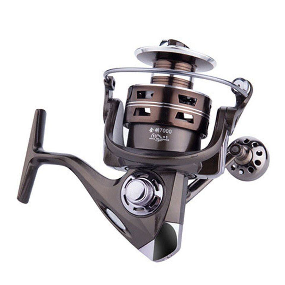 13+1BB 5.2:1 Fishing Reel Spinning Reel 1000-7000 Series Right Left Hand Inter-changeable Front Drag Wheel