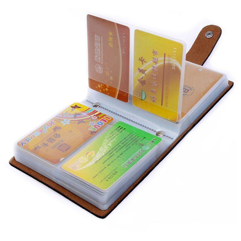 Лидер продаж 60 Слоты Для женщин Для мужчин держатель кредитной карты Пояса из натуральной кожи пряжки большой Ёмкость Бизнес ID Держатели Ор...
