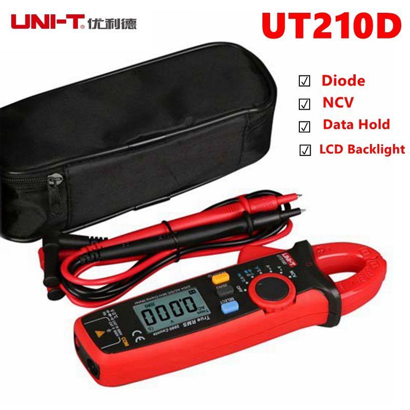 UNI-T UT210D UT210E Clamp Meter Multimeter AC2V/20V/200V 20A/200A Auto Range True RMS Low Battery Indicate Current Voltage Meter