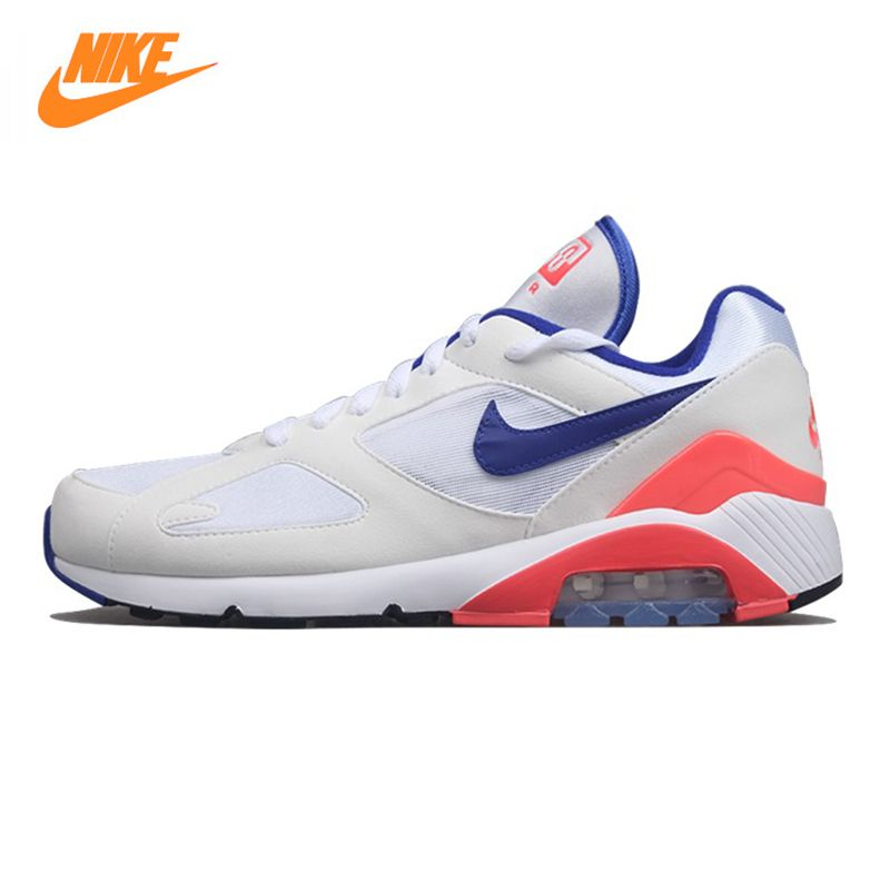 Nike Air Max 180 OG Men's and Women's Running Shoes, White, Breathable Lightweight Wear-resistant Shock Absorption 615287 100