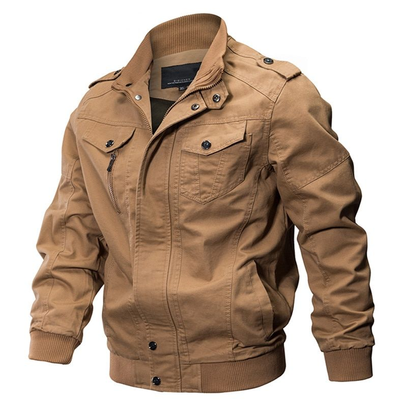 Military Jacket Men Spring Cotton Pilot Jacket Coat Army Men's Bomber Jackets Air Force Cargo Flight Jaqueta Plus Size 5XL 6XL