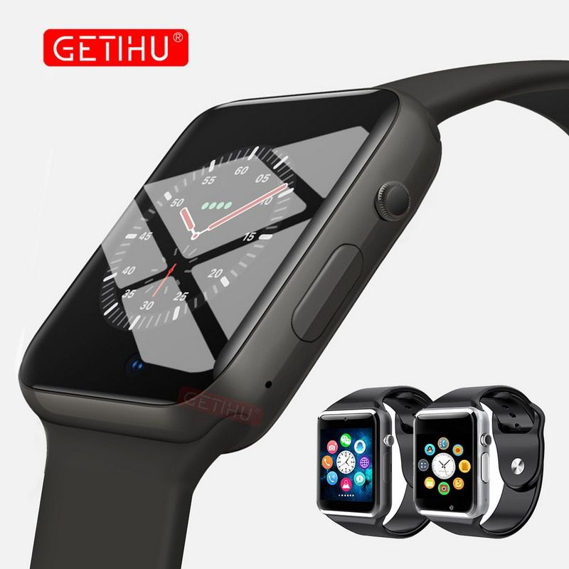 GETIHU Smart Watch Digital Wrist with Men Camera Bluetooth Wristwatch SIM Card Sport Smartwatch For iPhone Samsung Android Phone