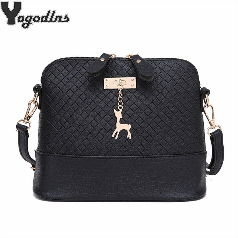 Offre spéciale! 2019 sacs de postier pour femmes mini-sac Avec Des Cerfs Jouet Shell Forme Sac De Mode Femmes sacs à bandoulière sac à main