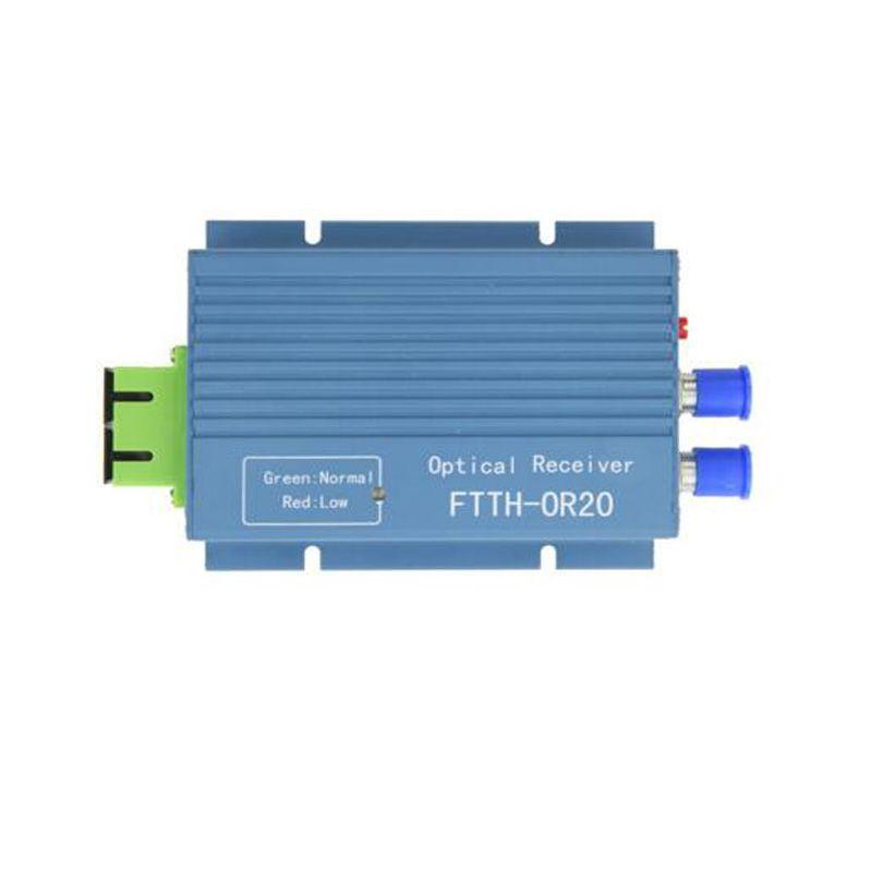 Aluminium CATV FTTH AGC Micro SC APC Duplex Connector with 2 output port WDM for PON FTTH OR20 CATV Fiber Optical Receiver