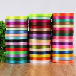 New 10mm 22 meters Single Face Satin Ribbon pretty Decorative Gift Wrap Wedding Christmas Crafts White Red Black Ribbons