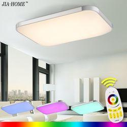 LED Plafonniers Lampe Luminaria Plafonnier Avec Télécommande Dimmable Couleur Et RVB Changeant Appareils Lustre Plafonnier