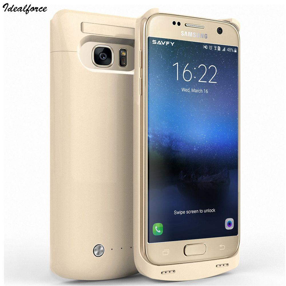 For Samsung S7edge cover cases 5200mAh Battery Portable Charger Protective Charging Case Pack Power Bank for Galaxy S7 4200mAh