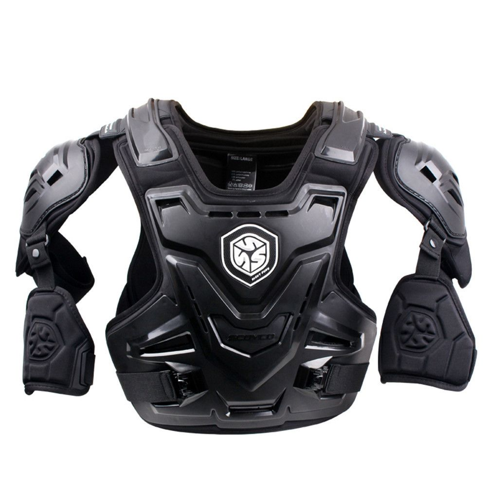 SCOYCO 2017 Motorcycles Motocross Chest Back Protector Armour Vest Racing Protective Body Guard MX Armor ATV Guards Race Black