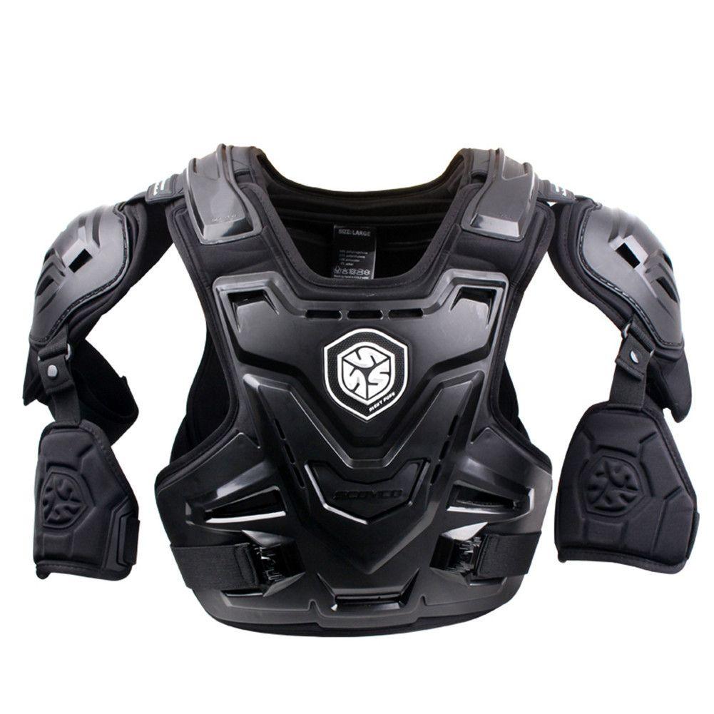 SCOYCO 2017 Motorräder Motocross Brust Rückenprotektor Weste Racing Schutzkörper Schutz MX Rüstung ATV Wachen Rennen Schwarz