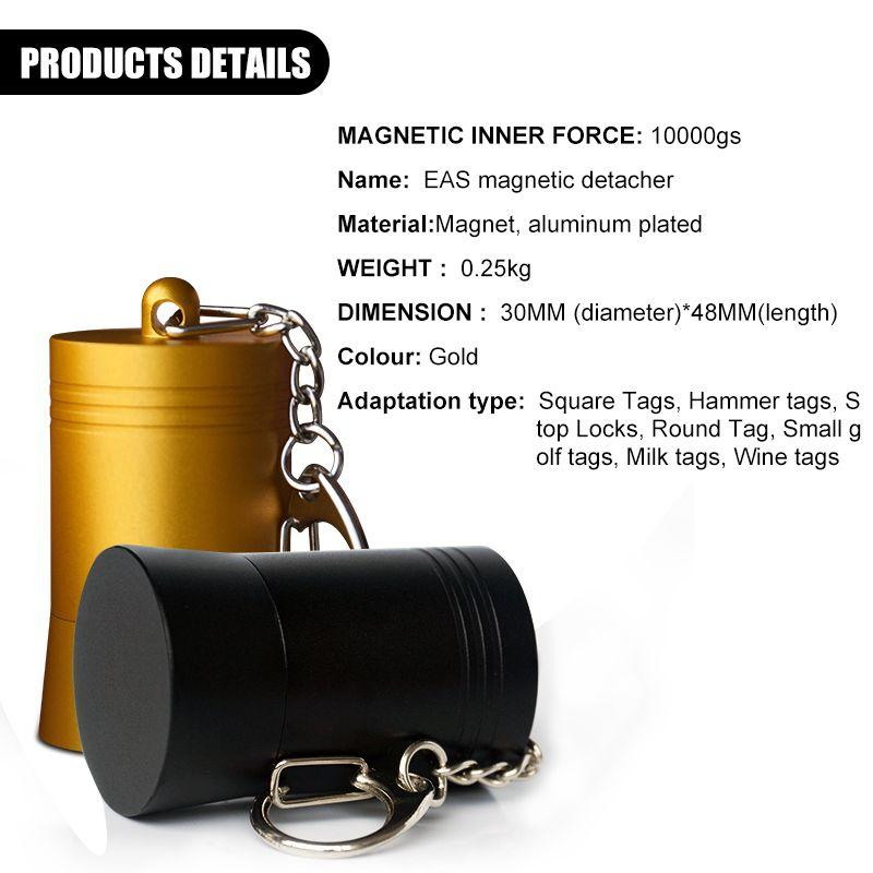 Hot! 10000GS Bullet Detacher Security Tag Remover Golf Detacher, Opener Unlock EAS Tag Detacher Magnetic,Wholesale