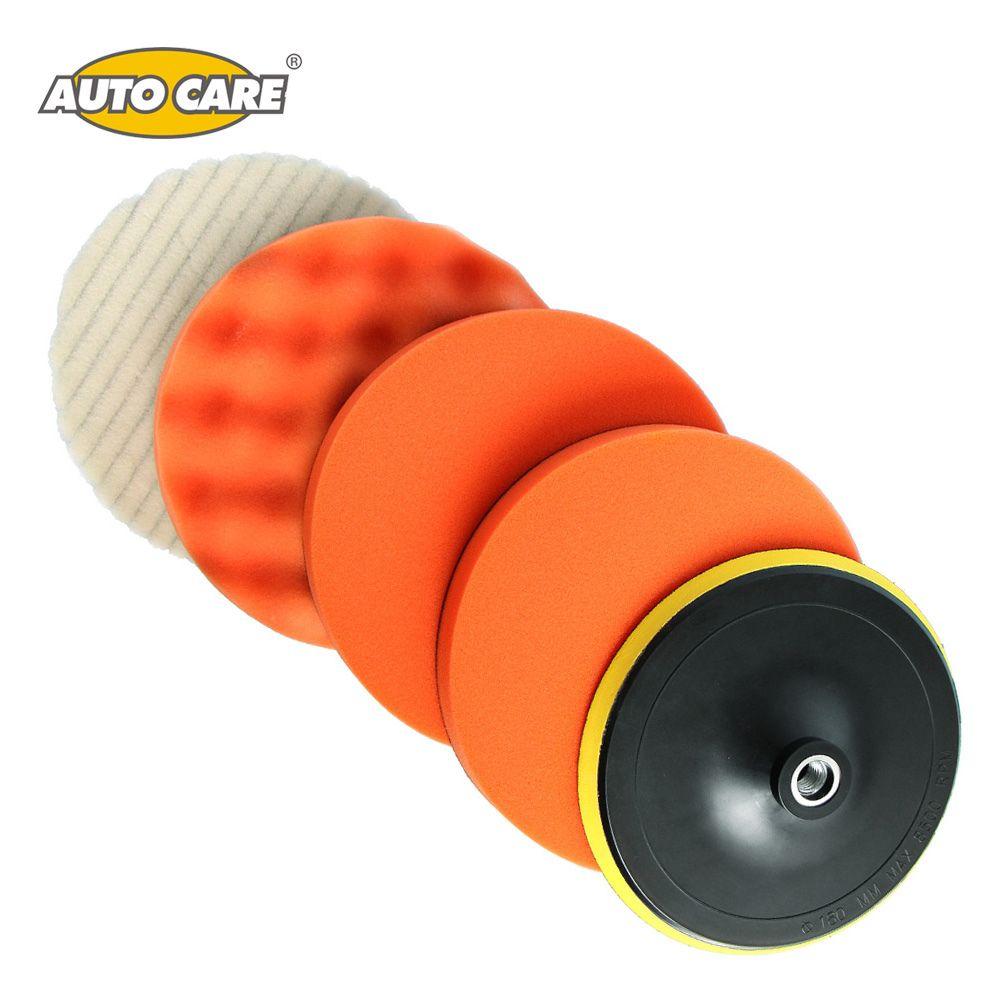 5Pcs Per Set 7 Inch (180mm) High Gross Polishing&Buffer Pad Set M14/M16 Drill Adapter For Car Polisher Buffing Self-adhesive