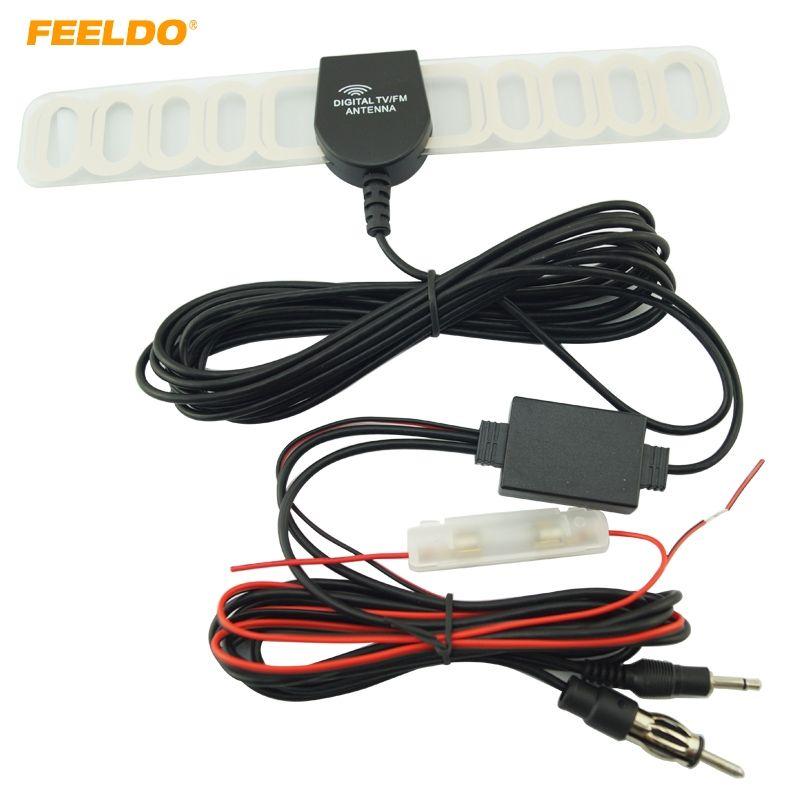 FEELDO Car 2IN1 TV/FM TV Antenna Radio Antenna With Amplifier Booster #FD-892