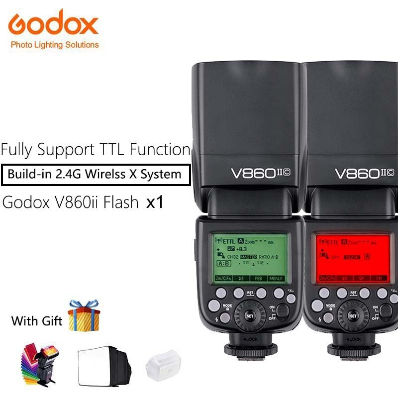 Godox V860II-C V860II-S V860II-N Speedlite Camera Flash with Li-ion Battery Fast 2.4G Wireless TTL For Canon/Nikon/Sony