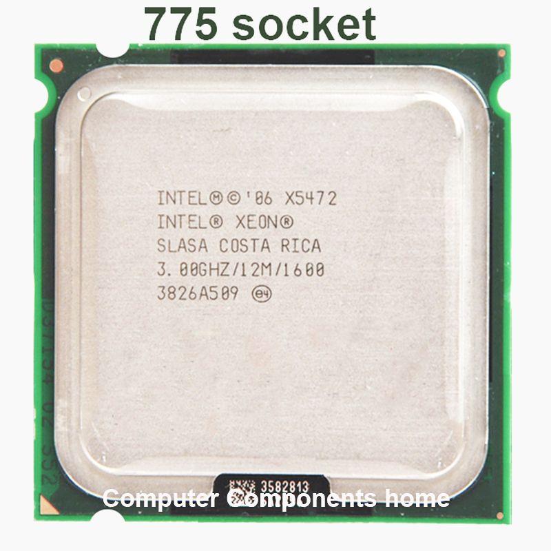 INTEL XEON X5472 quad core 4 core 3.0MHZ LeveL2 12M 1600 travail sur 775 carte mère pas besoin d'adaperts