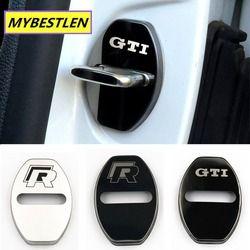 GTI para VW Volkswagen Golf 7 mk6 mk5 Polo Jetta Tiguan Accesorios Etiqueta de acero inoxidable puerta del coche-estilo cubierta de la cerradura