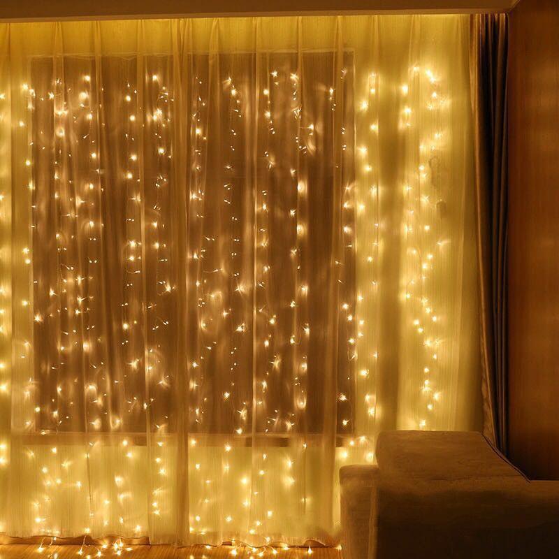 3x1/3x2/3x6 m guirlande LED guirlandes lumineuses de noël guirlande lumineuse extérieur maison pour mariage/fête/rideau/décoration de jardin