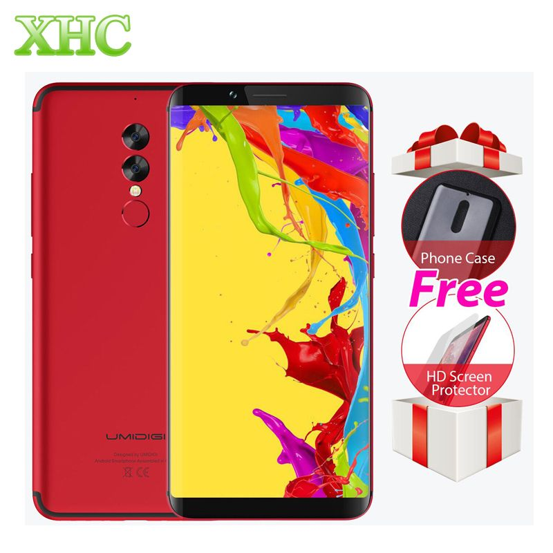 <font><b>UMIDIGI</b></font> S2 Lite 6.0'' 18:9 Display Smartphones 5100mAh 4GB+32GB Octa Core 16MP+5MP Android 7.0 4G LTE OTG Dual SIM Mobile Phones