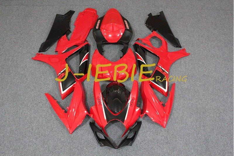 Red Black Injection Fairing Body Work Frame Kit for SUZUKI GSXR 1000 GSXR1000 K7 2007 2008