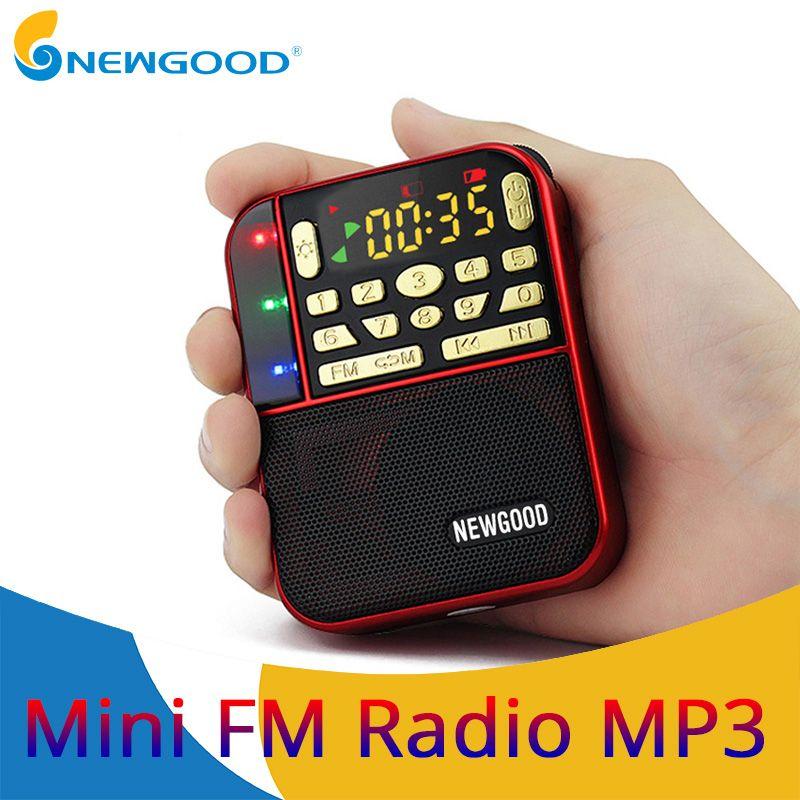 Mini Radio stéréo de poche Fm Portable Micro Sd Radios haut-parleur de bande de mode Tf Usb Mp3 haut-parleurs récepteur Fm récepteurs haut-parleur