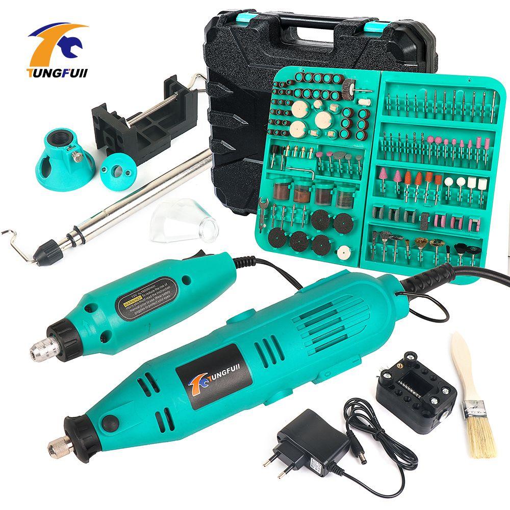 Tungfull Electric Drills Mini Drill Woodworking Drilling Machine Mini Polishing Machines 30000rpm Variable Speed Rotary Tools