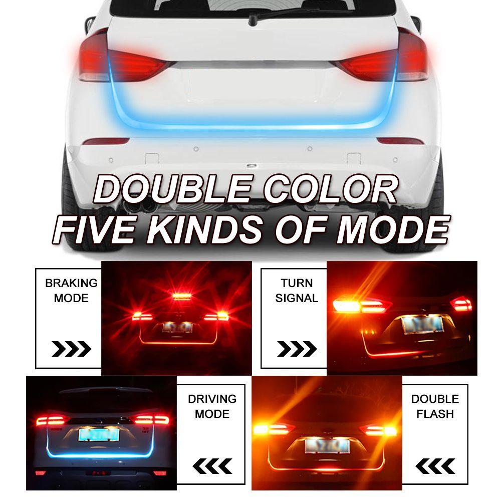OKEEN car styling Hayon signal lumineux bande Rouge et Bleu led tronc lumière bande kit Clignotants Queue led moving flash led avertissement