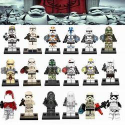 Legoing Star Wars Stormtrooper Clone Polisi Action Figure Blok Bangunan Mainan untuk Anak Legoings Starwars Tentara