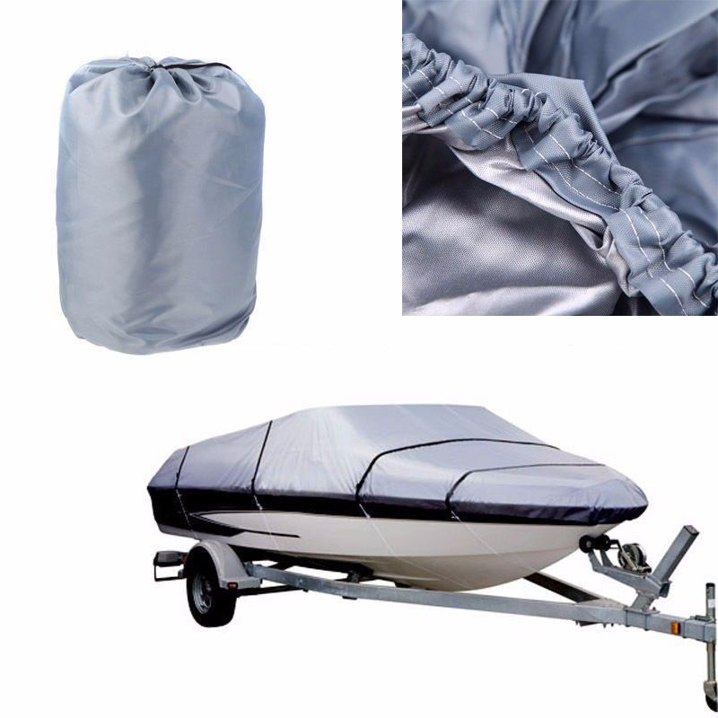 [HIGH QUALITY] 210D Oxford Cloth Boat Cover for 17-19ft Beam 125