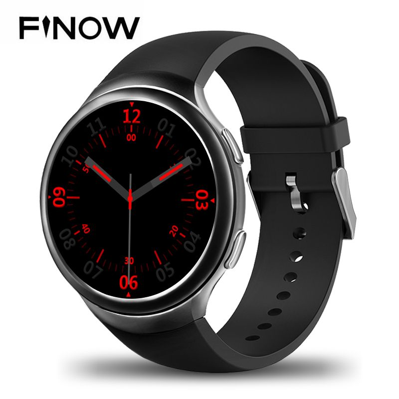 Finow X3 Plus K9 Bluetooth Smart Uhr Android 5.1 MTK6580 Quad Core 1 GB + 8 GB Herzfrequenz Smartwatch Uhr Für iOS Android PK KW88