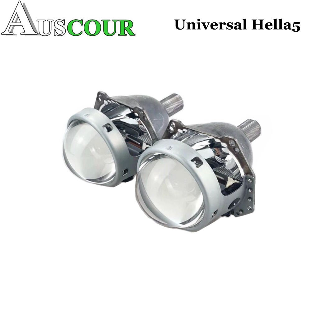 2pcs 3.0 inch hella 5 car Bi xenon hid Projector lens metal holder D1S D2S D3S D4S xenon kit lamp car headlight Universal modify