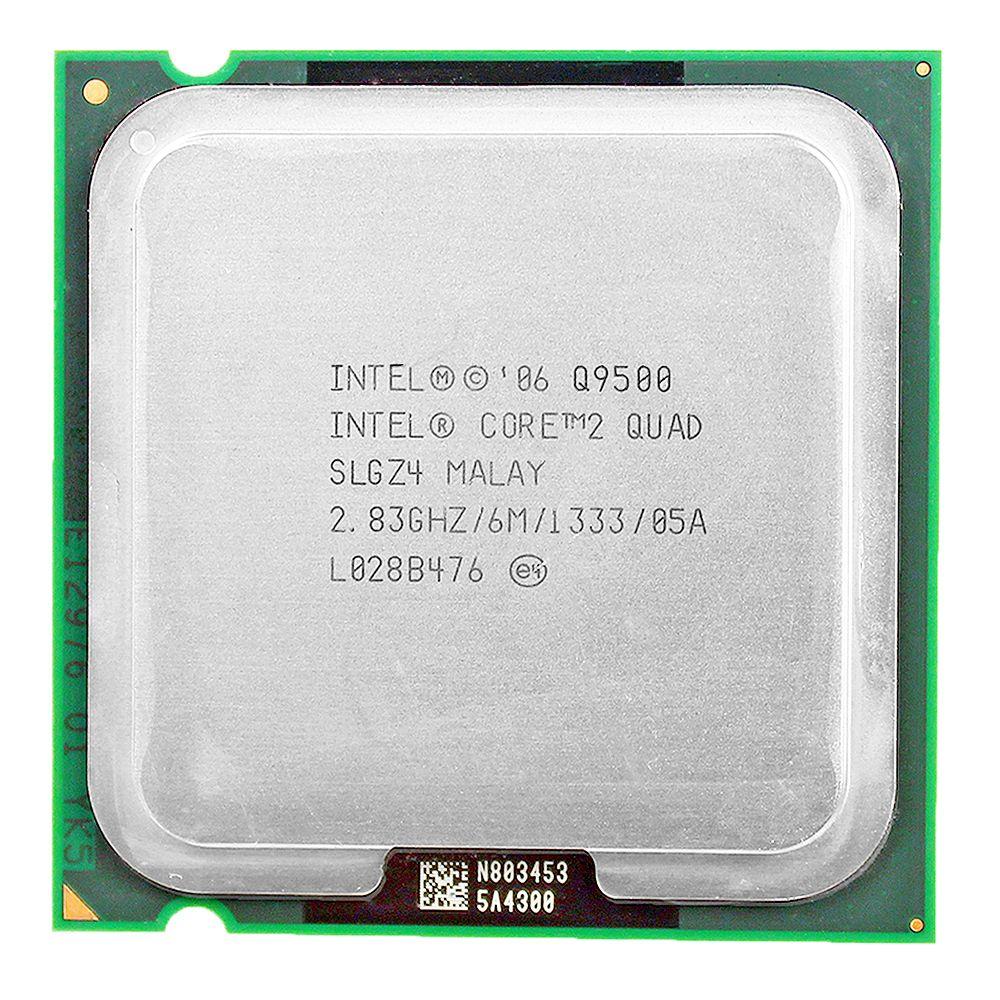 Processeur d'unité centrale intel core 2 quad Q9500 Socket 775 LGA (2.83 Ghz/6 M/1333 GHz) livraison gratuite
