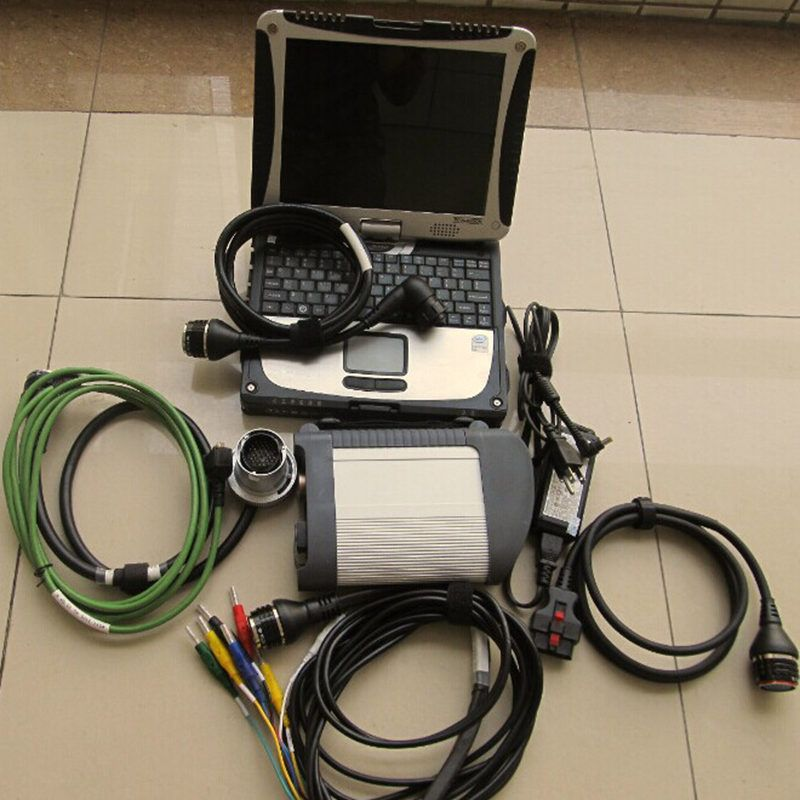 super mb star diagnostic tool star diangosis c4 sd connect with 2018.05v software hdd 500gb in pa-nasonic laptop cf19 4g ram