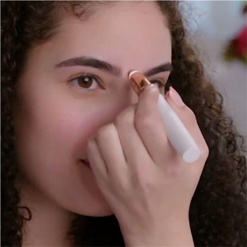 Électrique Chevêtre de Sourcil Femmes Mini Sourcil Rasoir Instant Indolore Visage Sourcils Hair Remover Épilateur Bien Tactile