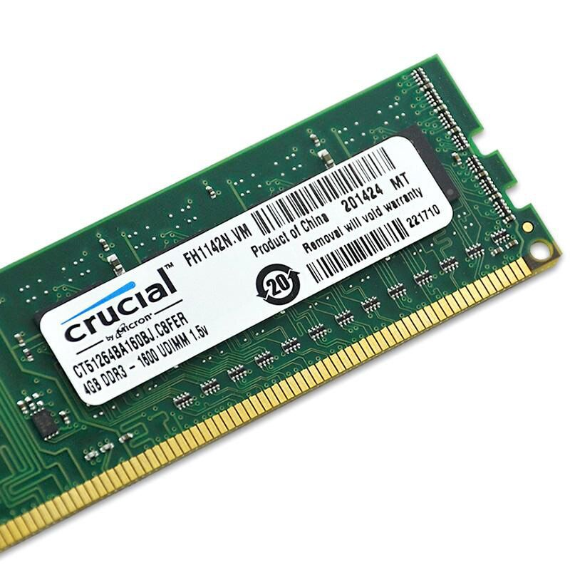 Crucial RAM DDR3 4GB 1333MHZ 1600MHz 2X4GB 8GB 240-pin DDR3 PC3-10600U PC3-12800U DIMM Desktop Memory