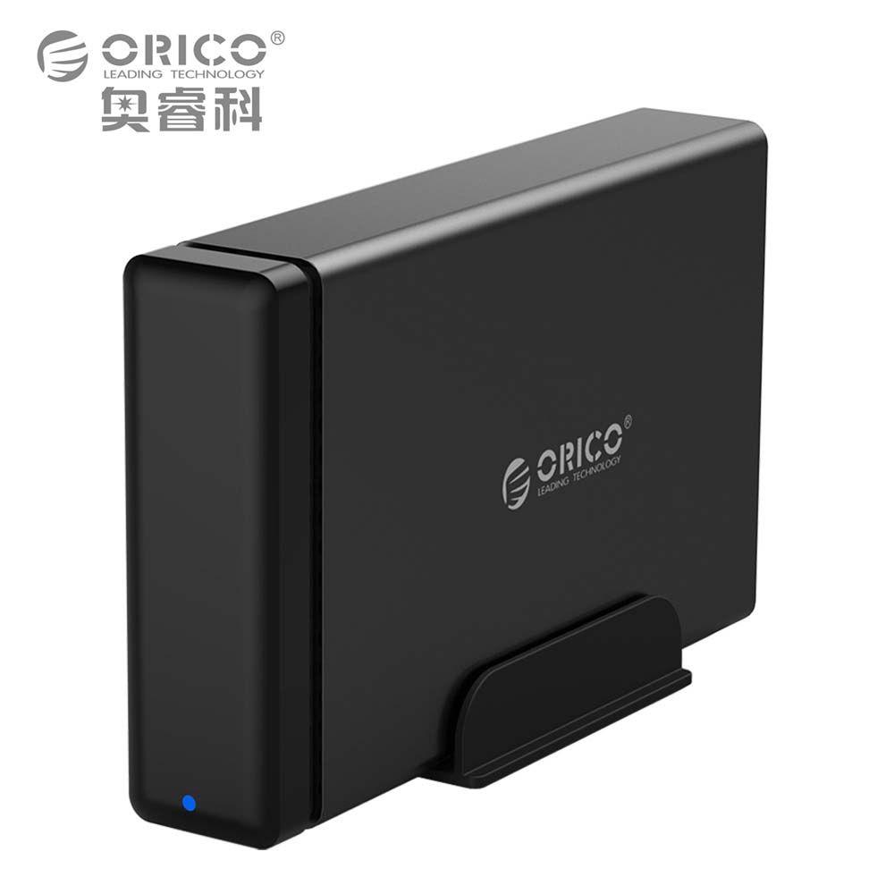 ORICO Aluminium HDD Dock Gehäuse USB3.0 zu SATA3.0 Festplatte Box unterstützung UASP 12 V Power MAX 10 TB Kapazität Für Windows Mac OS