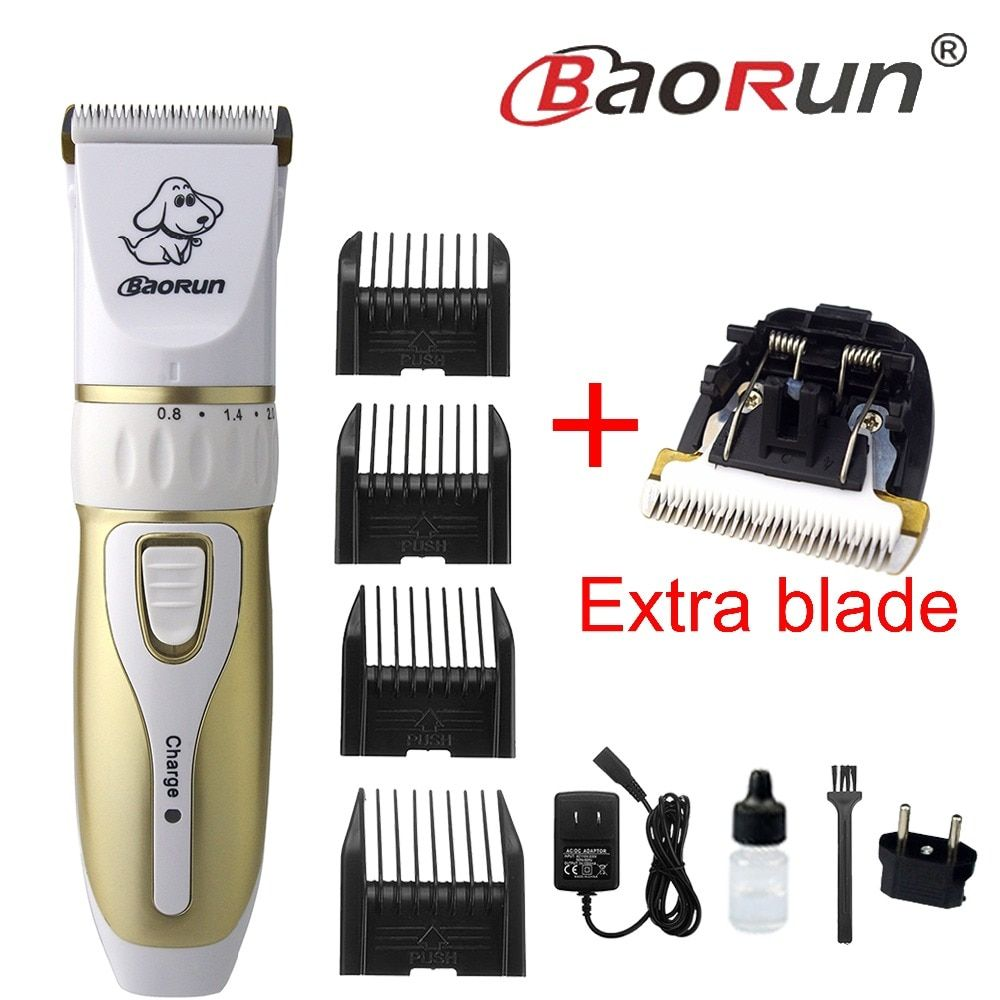 8W Professional Rechargeable Electric Pet Hair Trimmer Cat Dog Pet Hair Shaver High Power Clipper Cutting Low-noise Safe