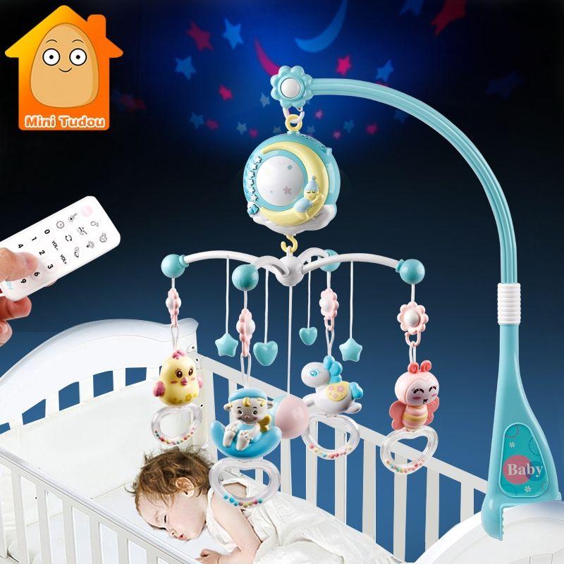 Bébé hochets berceau Mobiles support de jouet rotatif Mobile lit cloche boîte à musique Projection 0-12 mois nouveau-né infantile bébé garçon jouets