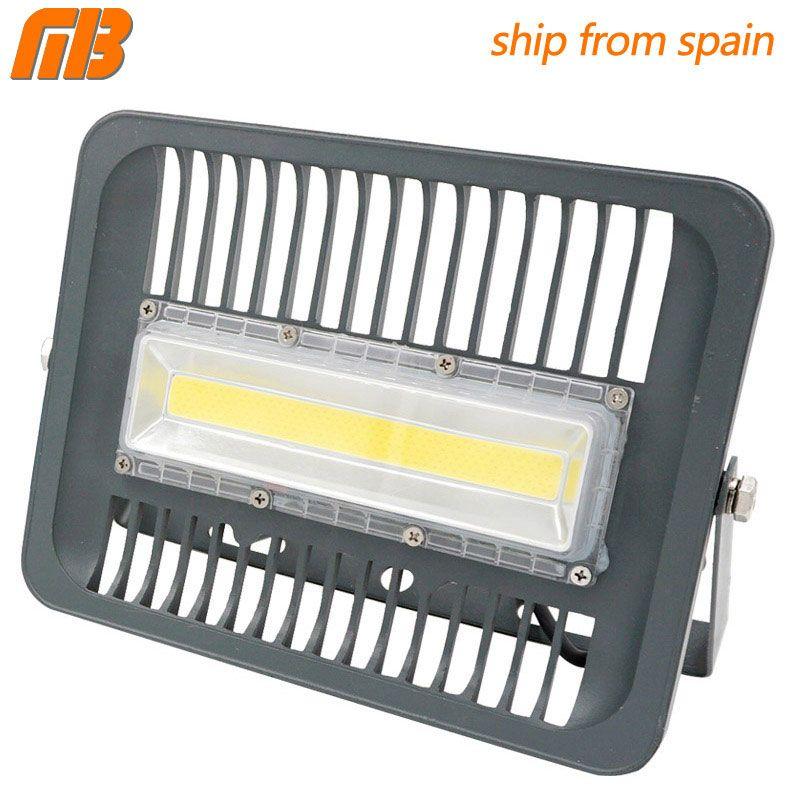 [MingBen] LED <font><b>Floodlight</b></font> 30W 50W 100W Outdoor Lighting AC230V IP65 CE LED <font><b>Floodlight</b></font> For Square Garden Garage Ship form ES RU CN