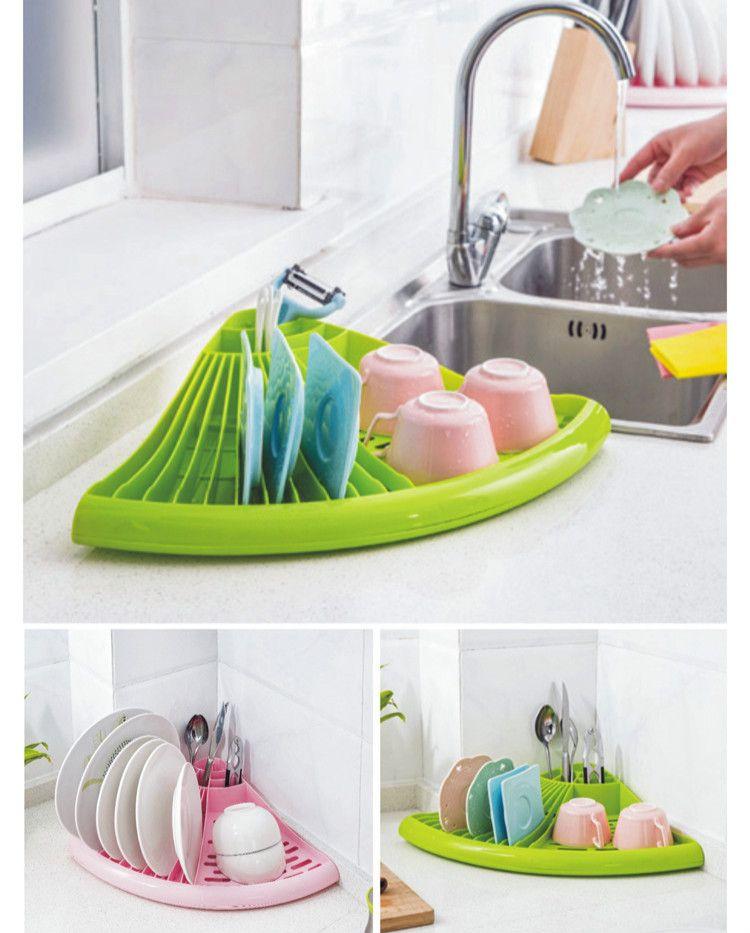 Bol égouttoir pour vaisselle Multifonctionnel Cuisine Plat Cuillère Plateau Bol armoire Rack Plat Rack Séchage Accessoires