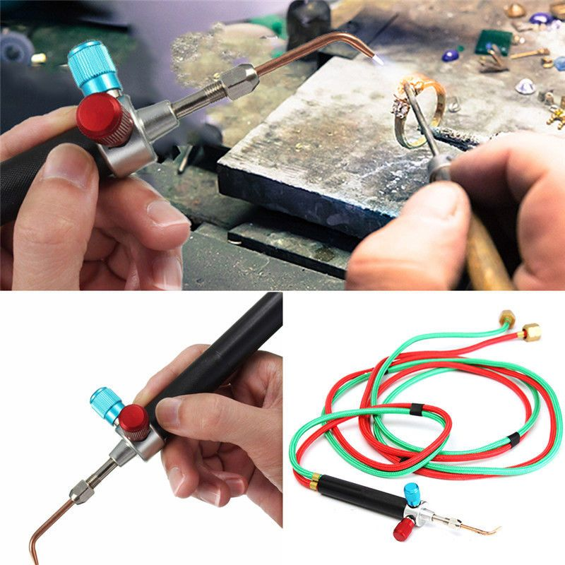 Micro Mini Gas Little Torch Welding Soldering Kit 5 Tips In Box Copper and Aluminum Jewelry Repair Making Tools