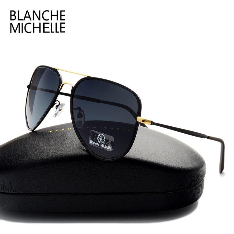 2017 Haute qualité Classique Pilote lunettes de Soleil Polarisées Hommes Femmes Marque Designer UV400 Conduite Lunettes De Soleil De Mode Lunettes de Soleil Cool