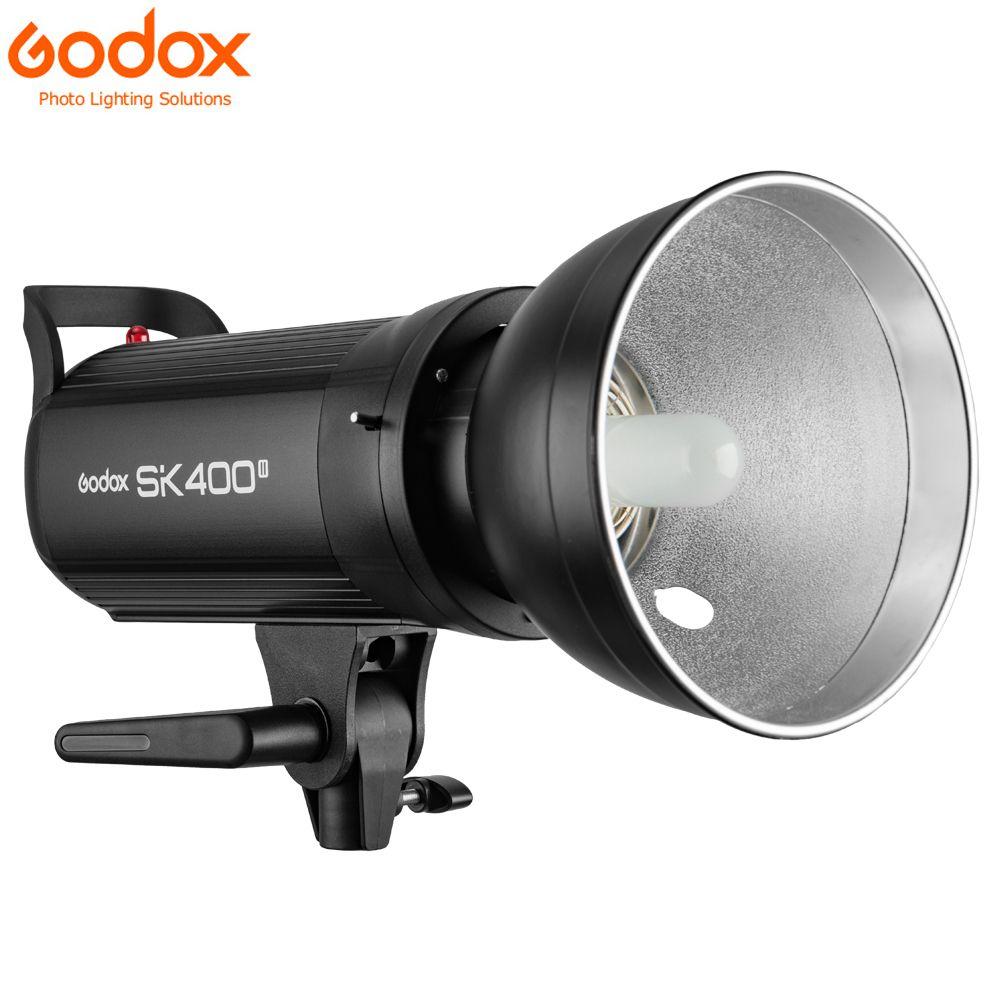 Godox SK400II Professional Compact 400Ws Studio Flash Strobe Light Built-in Godox 2.4G Wireless X System GN65 5600K