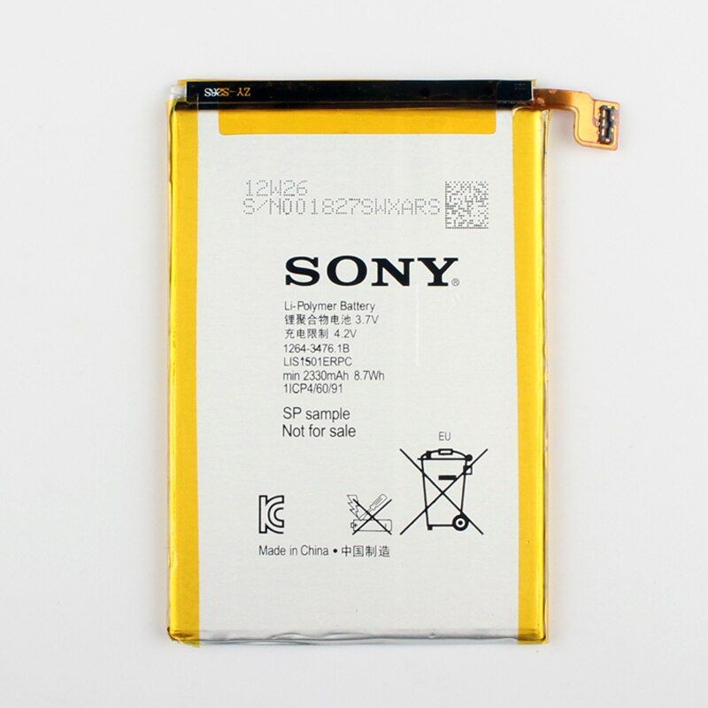 100% Original Replacement Battery LIS1501ERPC For SONY L35h Xperia ZL Odin C650X X Xperia ZQ Authentic Phone Battery 2330mAh