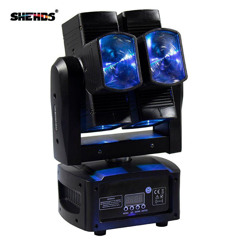 SHEHDS Bühne Licht DMX LED 8x10 W RGBW 4in1 Moving Head Licht Heißer Rad Unendliche Rotierenden LED Strahl bühne KTV DJ Party Hochzeit