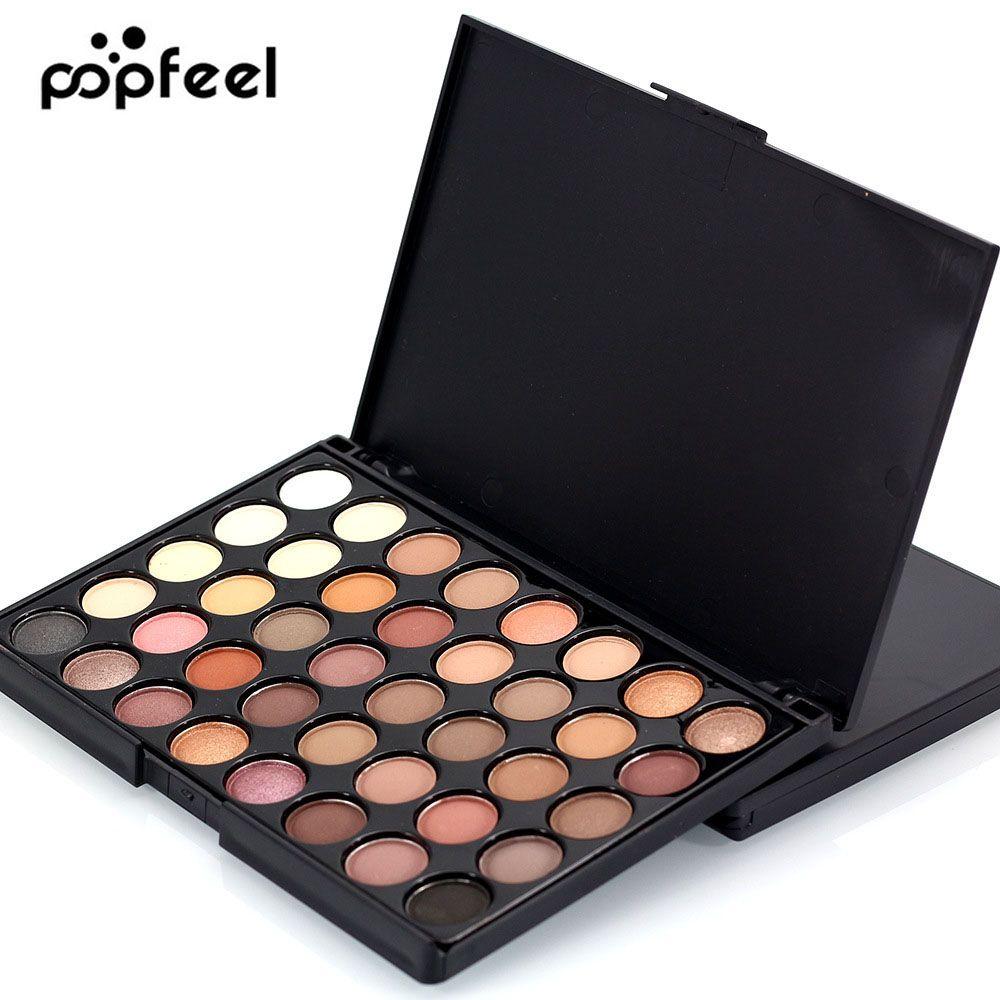 40 couleur Mat Fard À Paupières Maquillage Palette Ombre À Paupières Glitter Naturel Facile à Porter Imperméable Durable Maquillage Palette