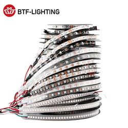 1 M/4 M/5 M WS2812B 30/60/74/96/100/144 piksel/LED/M Smart LED Pixel Strip hitam/Putih PCB, WS2812 IC; WS2812B/M, IP30/IP65/IP67 DC5V