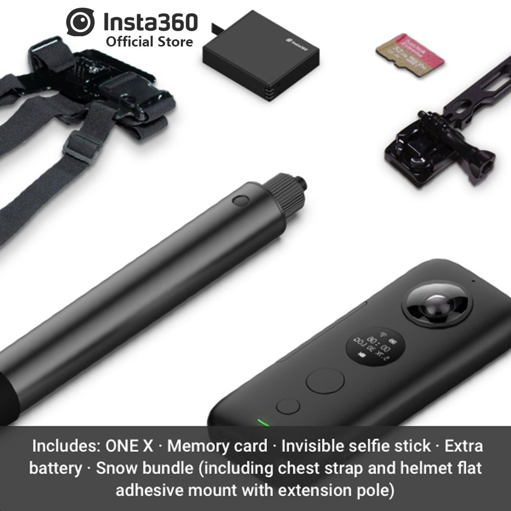 Insta360 ONE X Sports Action Camera 5.7K Video VR 360 For iPhone and Android