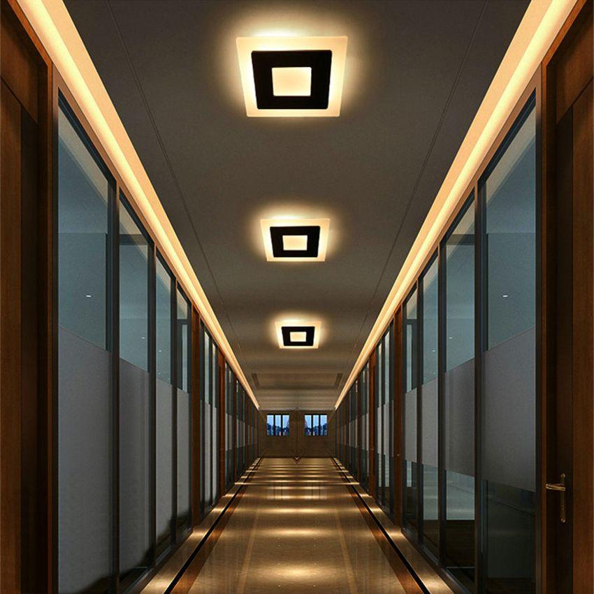 18 w LED plafonnier en aluminium acrylique décor à la maison plafonnier chambre salon couloir éclairage luminaire BL09x