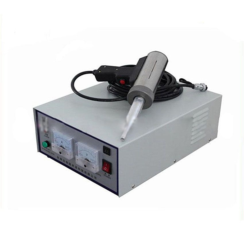 Hand-held ultrasonic plastic welding machine, Including the transducer, generator, tool head, handle 28 kHz/500W 220V and 110V