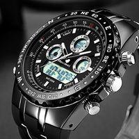 Reloj de pulsera de cuarzo deportivo de marca Readeel, relojes militares impermeables, relojes digitales LED para hombre, reloj de pulsera de cuarzo para hombre